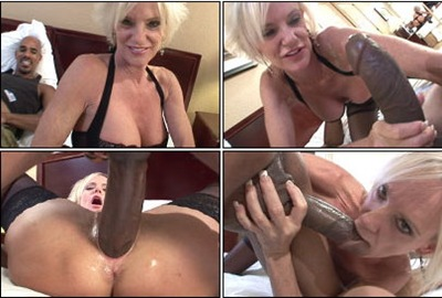 45 yr old blondie gets fucked by the largest cock of her life