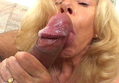 54 yr old blonde swallowing jizz